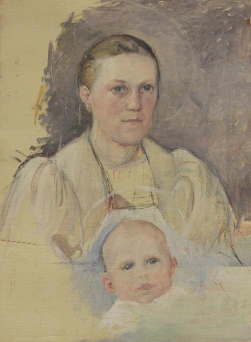 Pekka Halonen, Äiti ja Lapsi 1899, Pekka Halosen seura. Kuva Tarja Kärkkäinen