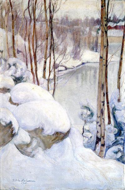 Pekka Halonen, Talvipäivä, öljy 1910, Pekka Halosen seura